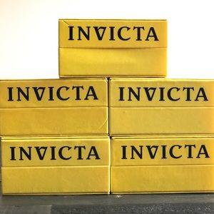 Invicta Bundle Of 5 Empty Watch Box Display Cases